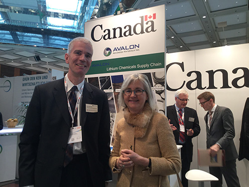 Avalon's VP, Sales and Marketing, Pierre Neatby stands with Her Excellency Marie Gervais-Vidricaire, Canada's Ambassador to Germany